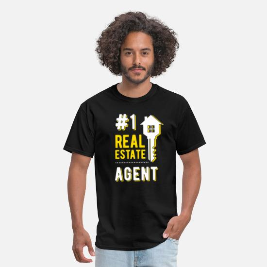 Real T-Shirts - #1 real estate agent - Men's T-Shirt black