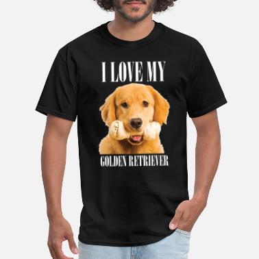 Golden Retriever I love my golden retriever - Men's T-Shirt