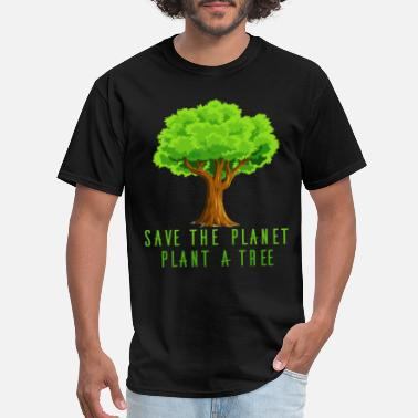 Mother Earth Planet - Save the planet, plant a tree - Men's T-Shirt