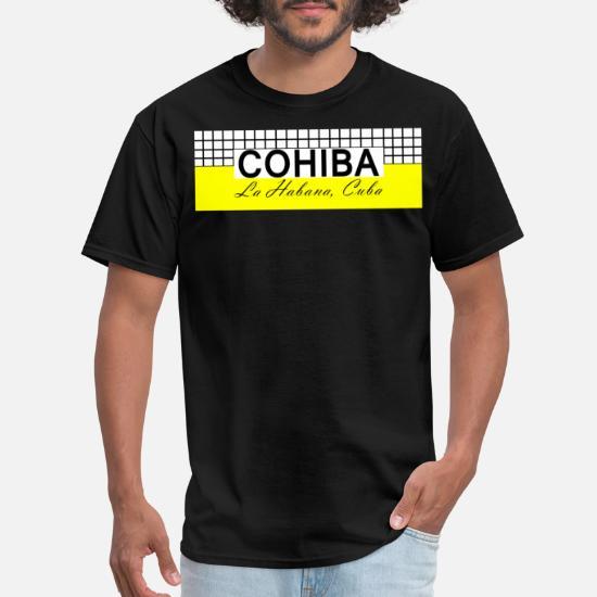 COHIBA Finest Cuban Cigar Logo Black T-shirt Short Sleeve