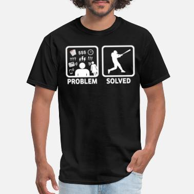 I Baseball Problem Solved - Men's T-Shirt