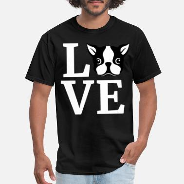 Womens Boston Terrier WOMEN S I Love My Boston Terrier Boston Terrier Gi - Men's T-Shirt
