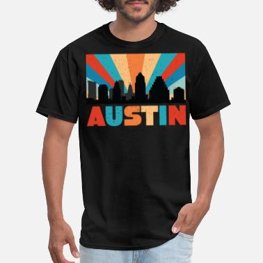 Texan Designs Retro Austin Texas Design for Texans and Austinites - Men's T-Shirt