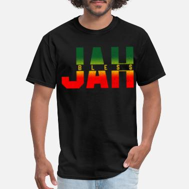 Rastafari Jah Bless - Rastafari Reggae Music Jamaica - Men's T-Shirt