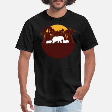 Africa Elephant Elephants Africa - Men's T-Shirt