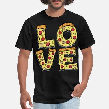 Pasta Pizza Pizza love pasta Italian - Men's T-Shirt