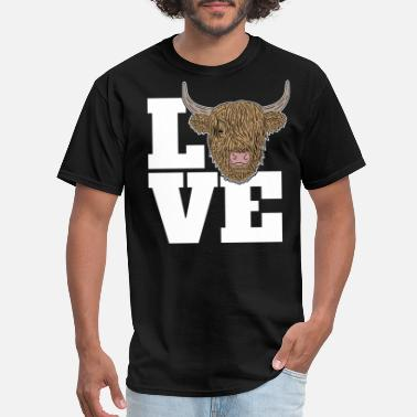Cattle Highland Cattle Funny Cow Lover Farmer Gag Gift - Men's T-Shirt