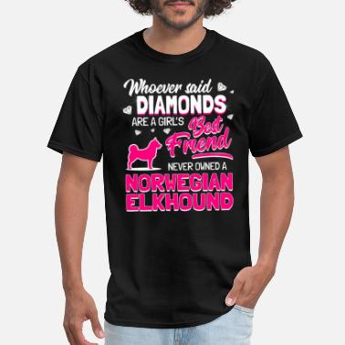 Norwegian Elkhound Owner Norwegian Elkhound Dog Owner Diamonds Girl Gift - Men's T-Shirt