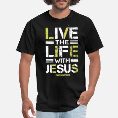 No Jesus No Life Know Jesus Know Life Life With Jesus Christian Jesus Cross Novelty Gift - Men's T-Shirt