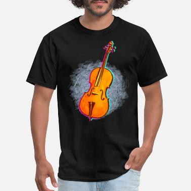 Cello Art Cellist Gift Idea Cello Player Art - Men's T-Shirt