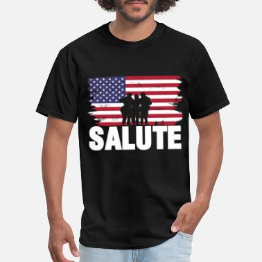 Military Honor Veterans gift army military honor - Men's T-Shirt