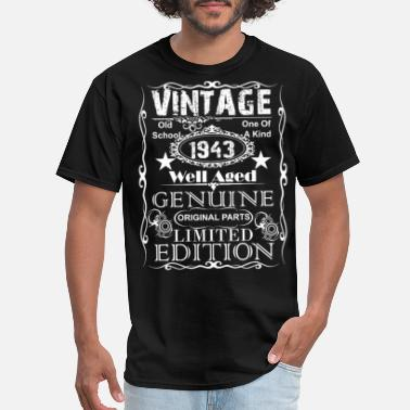 1943 76th Birthday Gift graphic Vintage 1943 Year Gift - Men's T-Shirt