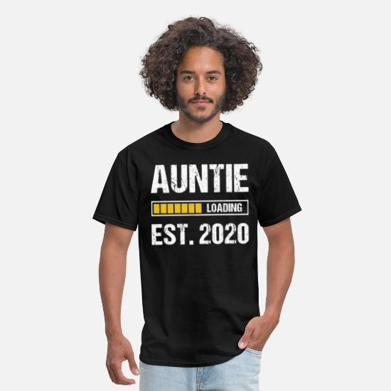 Aunt T-Shirts - Aunt 2020 Quote Funny Auntie Loading Gift - Men's T-Shirt black