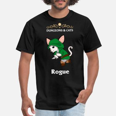 Rogue Dungeons and Cats Rogue Fighter Fantasy Class RPG - Men's T-Shirt