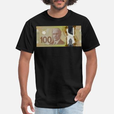 Bill 100 Canadian Dollar Bill - Men's T-Shirt