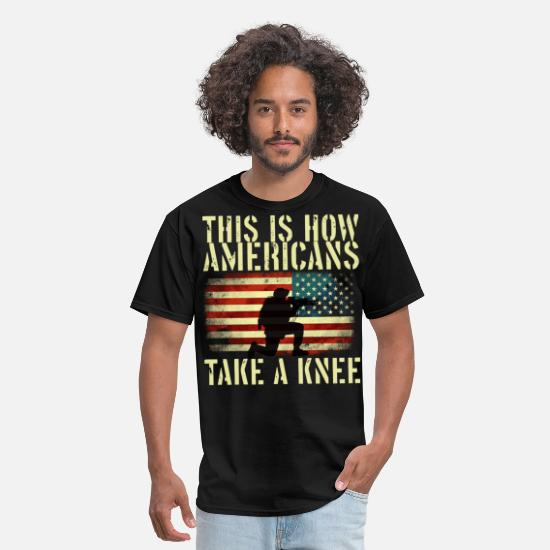 Flag T-Shirts - Stand for the flag. Kneel for the cross - Men's T-Shirt black