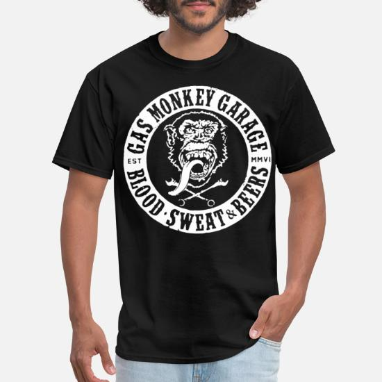 94e71fea5 Official Gmg Gas Monkey Garage Blood Sweat And hus Men's T-Shirt ...
