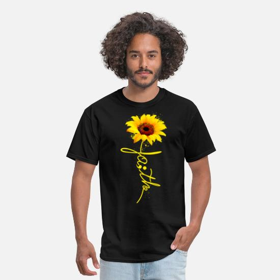 Sunflower T-Shirts - Sunflower Faith Suicide Prevention Awareness - Men's T-Shirt black
