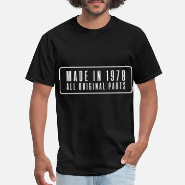 Birth Date Made in 1978 birthday present date year of birth - Men's T-Shirt