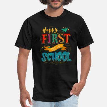 Back To School Happy First Day Of School - Men's T-Shirt