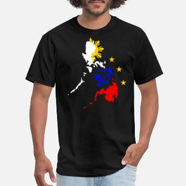 Map Map of Philippines with 3 Stars and Sun T Shirt - Men's T-Shirt