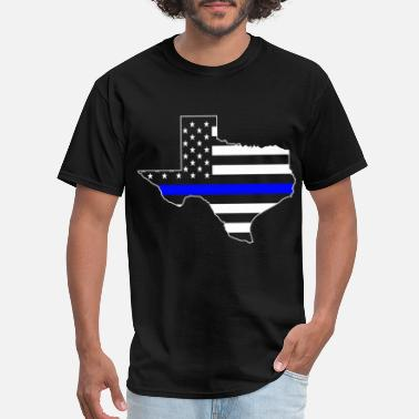 Don T Mess With Texas TEXAS THIN BLUE LINE FLAG POLICE DALLAS LAW ENFORC - Men's T-Shirt