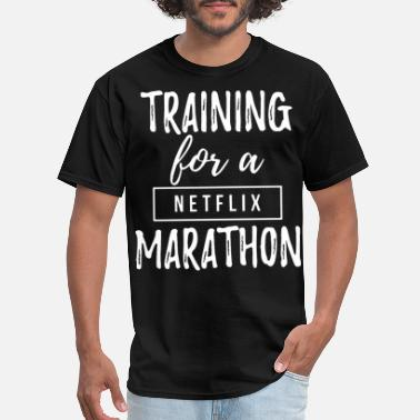 Enders Game training for a netflix marathon game - Men's T-Shirt