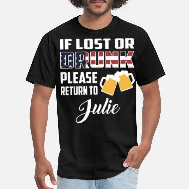 Disney Drinking of lost or drunk please return to julie wine - Men's T-Shirt