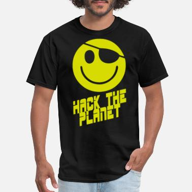 Hack Hackers Movie Hack the Planet Movie pirate - Men's T-Shirt