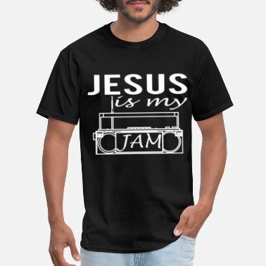 Music Jesus Is My Jam Funny Cute Religious Christian Mus - Men's T-Shirt