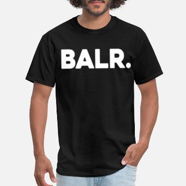 Balr. NEW BALR Mens Hip Hop Kanye Drake Black White Tee - Men's T-Shirt