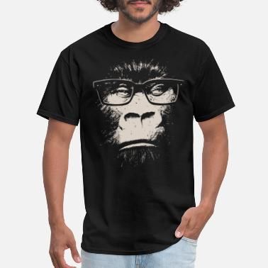 Jungle Hipster Gorilla With Glasses - Men's T-Shirt