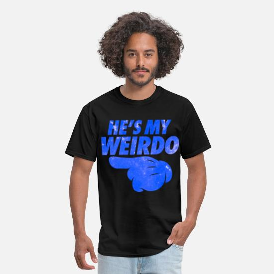 Couples T-Shirts - He's My Weirdo Galaxy - Men's T-Shirt black