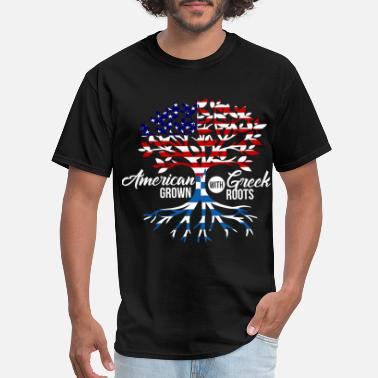 Greek American Greek - Men's T-Shirt