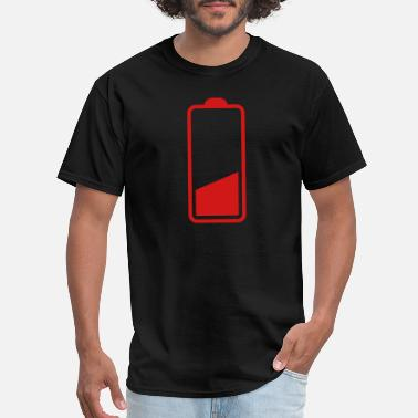 Low low battery three quarter one quarter batteries - Men's T-Shirt