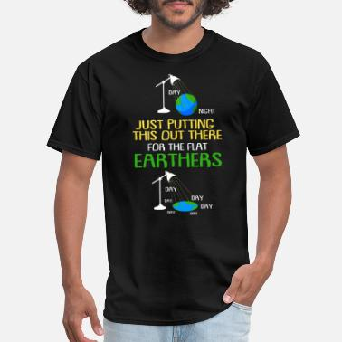 Astronomy Flat Earth Society Conspiracy Reptiloids Science - Men's T-Shirt