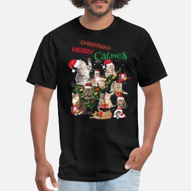 Christmas Cat Christmas Cat,Merry Christmas,Catmess - Men's T-Shirt