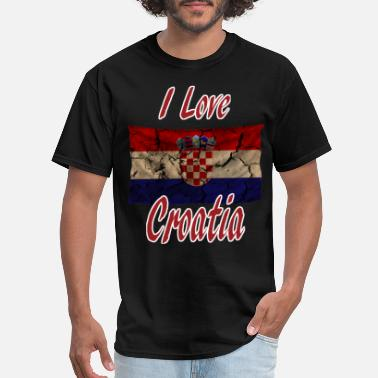 I Love Croatia I love Croatia - Men's T-Shirt
