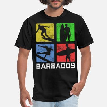 Surfing Art BARBADOS SURFING POP ART - Men's T-Shirt