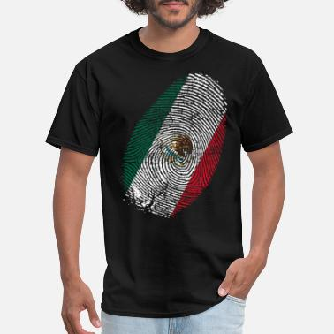 Fingerprint Mexico fingerprint vintage DNA - Men's T-Shirt