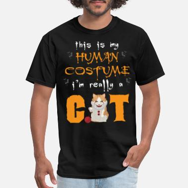 Cat Owner Halloween Cat Owner - Men's T-Shirt