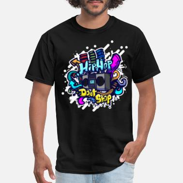 Hip Hip Hop classic ghettoblaster graffiti - Men's T-Shirt