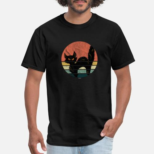 4716a4e4875 Distressed Vintage Black Cat Retro Graphic Art Cat Lover by TomGiant |  Spreadshirt