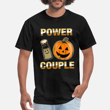 Girl Power Couple Cute Halloween Power Couple Pumpkin Spice - Men's T-Shirt