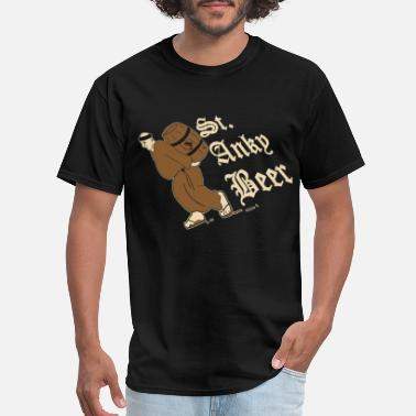 Beer Is My Spirit Animal st anky beer wine - Men's T-Shirt