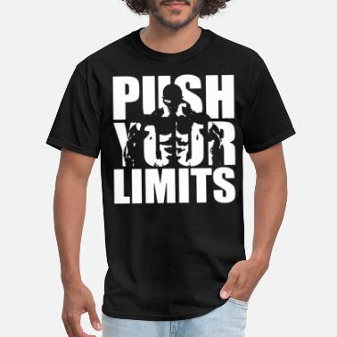 Limit Mens Bodybuilding Push Your Limits gym training wo - Men's T-Shirt