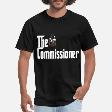 Commish the commissioner fantasy football draff party comm - Men's T-Shirt