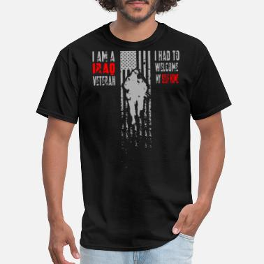My Dad Veteran i am a irad veteran i had to welcome my self home - Men's T-Shirt