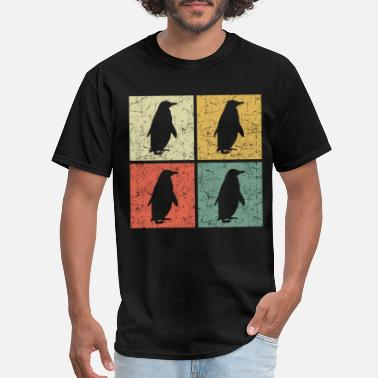 retro penguins copy - Men's T-Shirt