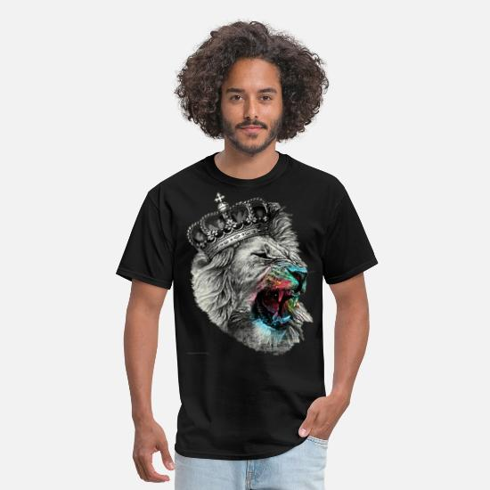Lion T-Shirts - lion - Men's T-Shirt black